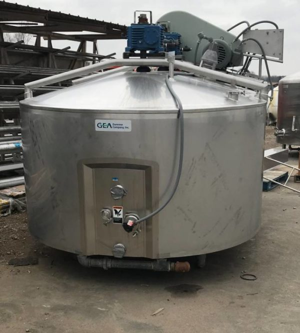 1,400 gallon Damrow, Enclosed Cheese Vat model Double O