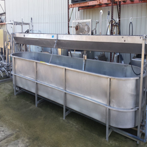 1,000 gallon Cheese Vat round end